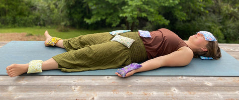 Savasana with Inner Space Yoga Supplies