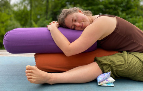 Supporting Knees with Inner Space Yoga Supplies