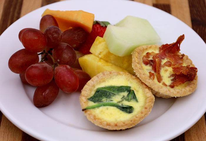 Mini Quiche & Fresh Fruit