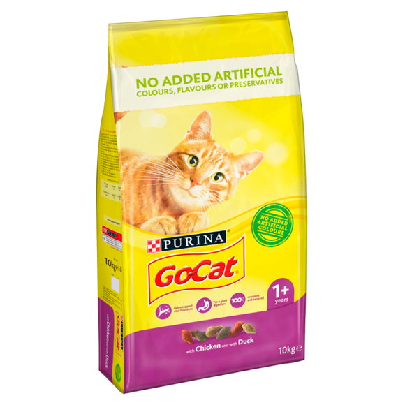 Go-Cat Chicken & Duck Adult Cat 10kg