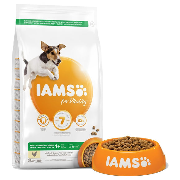 Iams Vitality Adult Dog Small/Medium Breed With Chicken 2kg