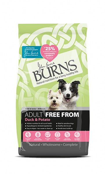 Burns Free From Duck & Potato 2kg