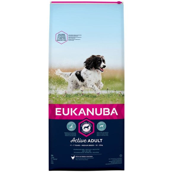 Eukanuba Active Adult Medium Breed with Chicken