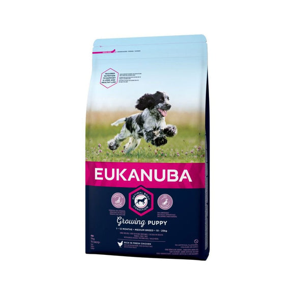 Eukanuba Growing Puppy Medium Breed Dog Food with Chicken