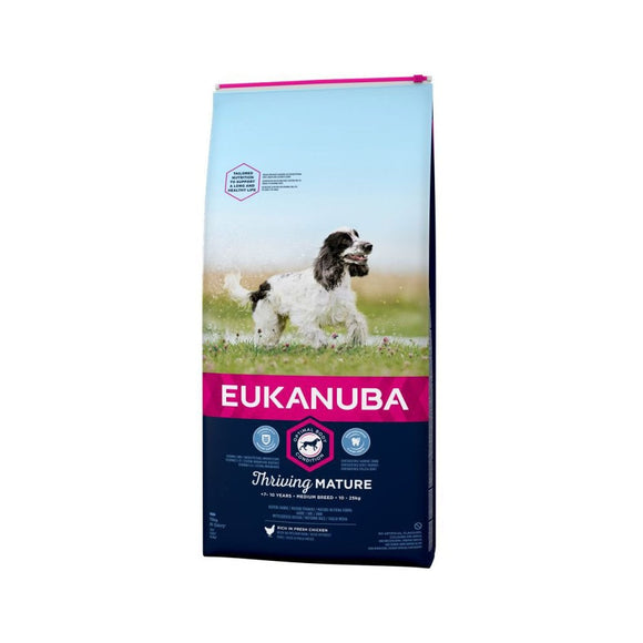Eukanuba Thriving Mature Medium Breed Dog Food with Chicken