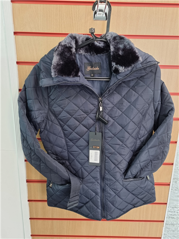 Ladies Quilted Jacket Navy