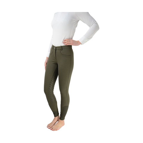 Hy Sarah Jane Silicone Breeches Olive Green
