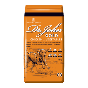 Dr John Gold Working Dog Food with Chicken & Vegetables