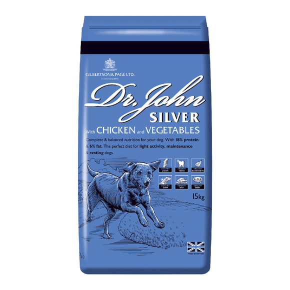 Dr John Silver with Chicken & Vegetables Complete Working Dog Food