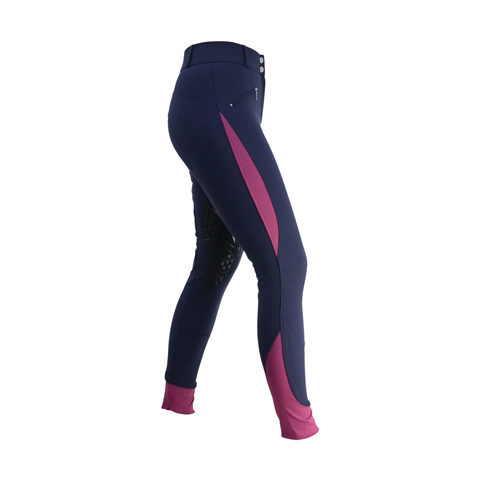 HY Sports Active Ladies Breeches Navy Port
