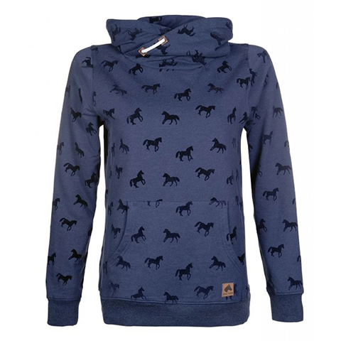 HKM Little Horses Sweater, Navy/Mixture