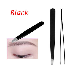 1PC Black Color Eyebrow Tweezer