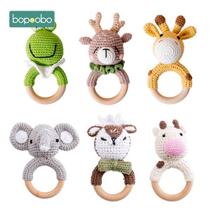 Bopoobo Baby Teether Safe Wooden Toys