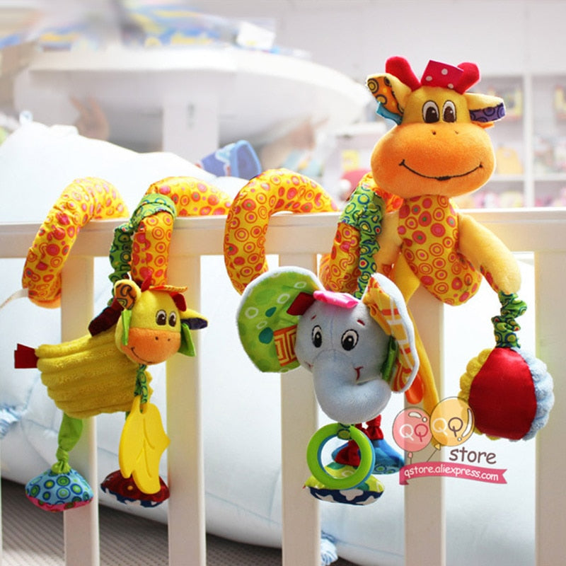 Baby Crib Toys for Children 0-12 Months Puppy, Giraffe, Lion, Elephant, Owl, Monkey, Bird, Bug, Bear, Bunny