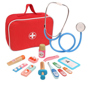 Wooden Pretend Play Doctor Educationa Toys for kids