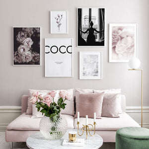 Nordic Fashion Poster Flowers  Home Decorative