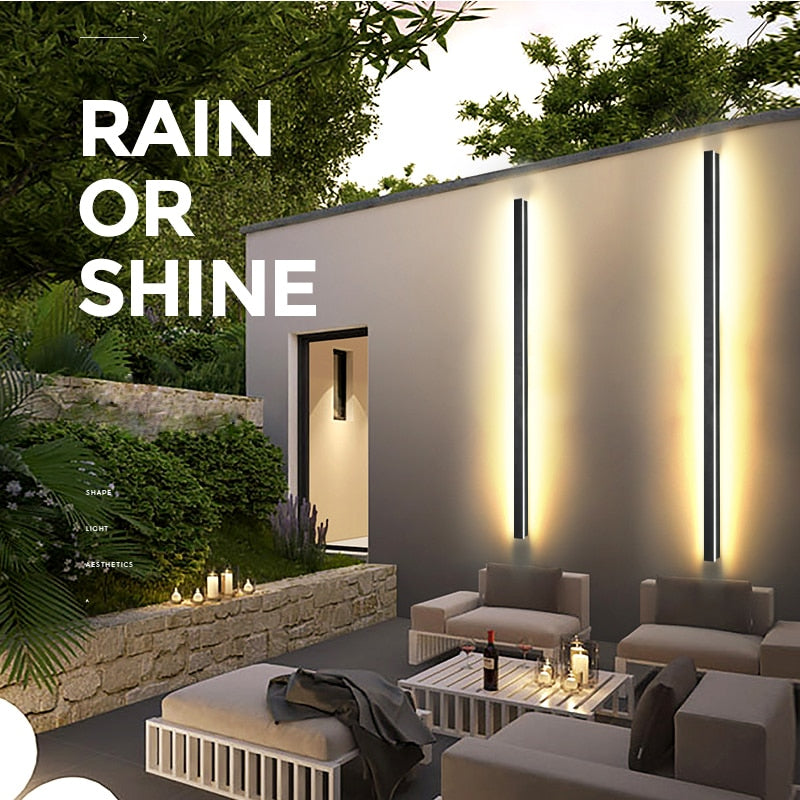 Modern Waterproof outdoor Long Strip LED wall lamp