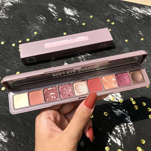 Novo 9 Colors Glitter Eyeshadow Makeup Palette