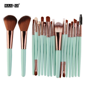 MAANGE 6/15/18Pcs Makeup Brushes Tool
