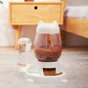 2.2L Pet Dog Cat Automatic Feeder Bowl for Dogs