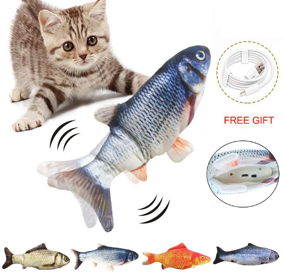 Electric USB Charging Simulation Fish Toys for pets