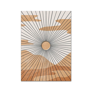 Line Art Poster Abstract Canvas Painting