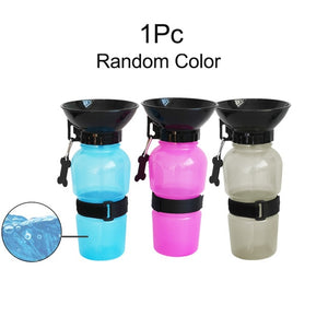 2 in 1 Portable Pet Dog Water and Food Bottle