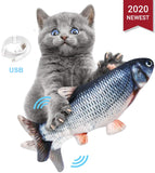 Electric USB Charging Simulation Fish Toys for Cat