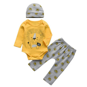 Baby Bear Letter Print Long Sleeve Roomper