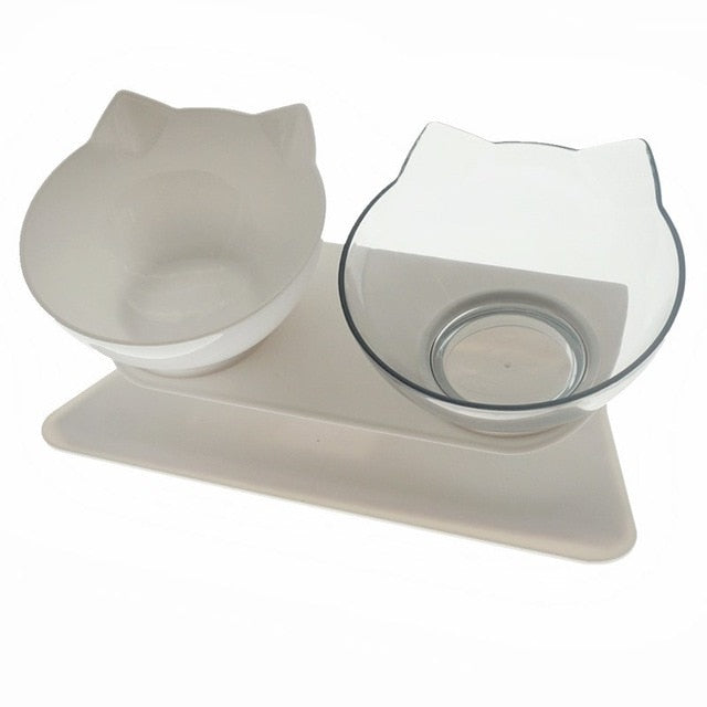 Double Cat Bowl With Stand Pet