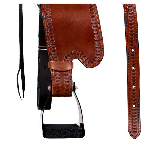 Dakota Western Trail Saddle 214 (Franches-Montagnes & Freiberger) Brown Straps Stirrups
