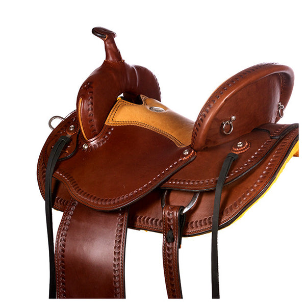 Dakota Western Trail Saddle 214 (Franches-Montagnes & Freiberger) Brown Back