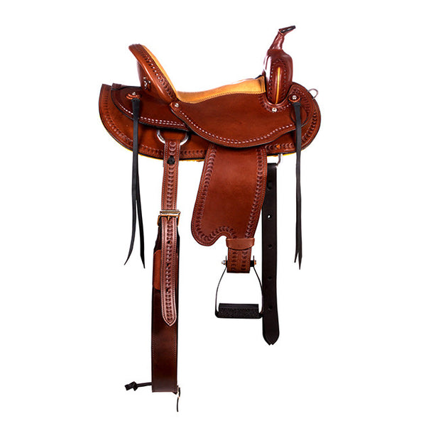 Dakota Western Trail Saddle 214 (Franches-Montagnes & Freiberger) Brown Side3