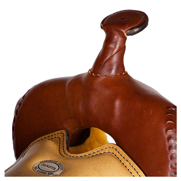 Dakota Western Trail Saddle 214 (Franches-Montagnes & Freiberger) Brown Pommel
