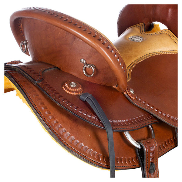 Dakota Western Trail Saddle 214 (Franches-Montagnes & Freiberger) Brown Cantle