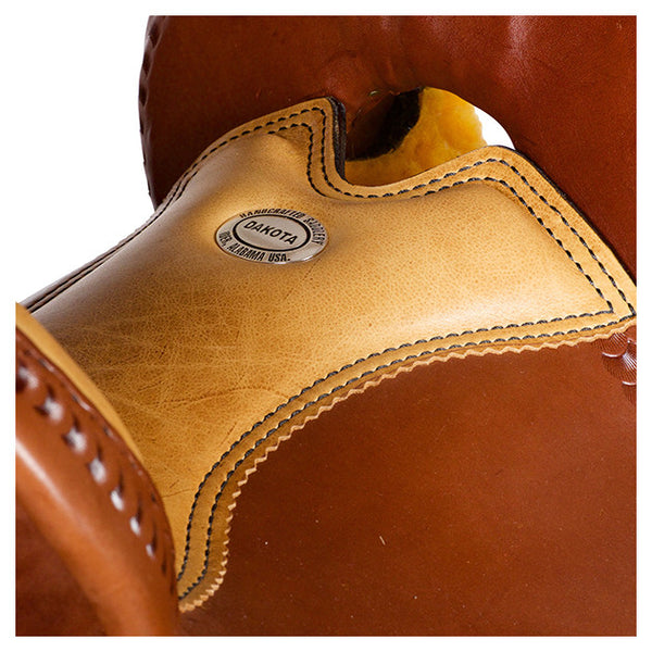 Dakota Western Trail Saddle 214 (Franches-Montagnes & Freiberger) Brown Seat