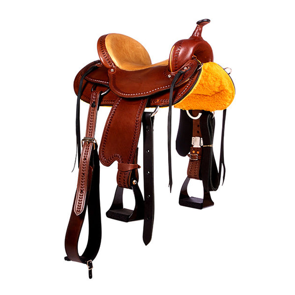 Dakota Western Trail Saddle 214 (Franches-Montagnes & Freiberger) Brown Side2
