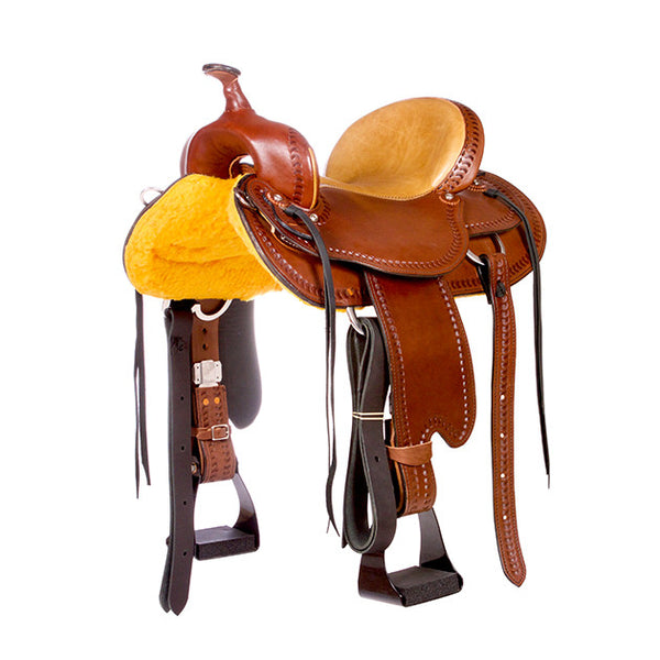 Dakota Western Trail Saddle 214 (Franches-Montagnes & Freiberger) Brown Front