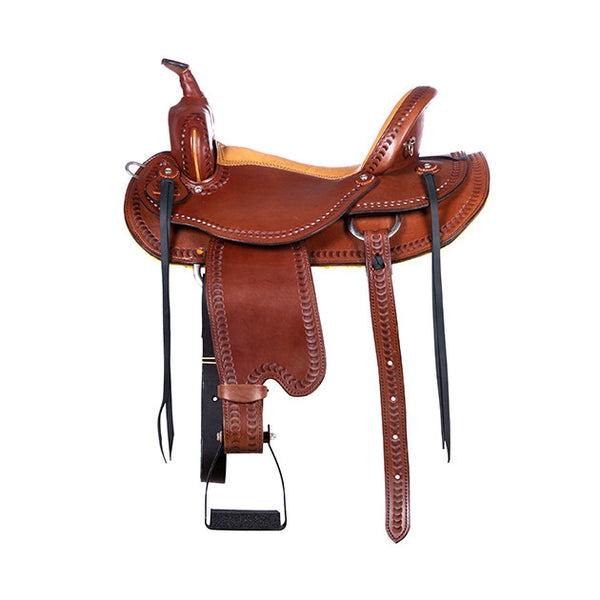 Dakota Western Trail Saddle 214 (Franches-Montagnes & Freiberger) Brown Side
