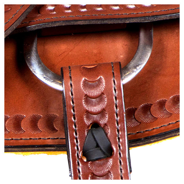 Dakota Western Trail Saddle 214 (Franches-Montagnes & Freiberger) Brown Side Strap