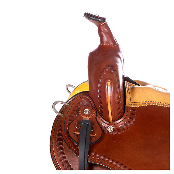 Dakota Western Trail Saddle 214 (Franches-Montagnes & Freiberger) Brown Pommel2