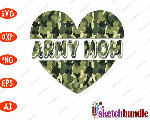 Army Mom SVG PNG Cutting Printable Files