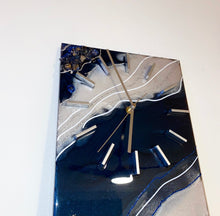 "Load image into Gallery viewer, 10"" x 20"" Blue Diamond Clock"