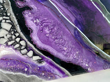 Load image into Gallery viewer, Purple Reign Resin Painting