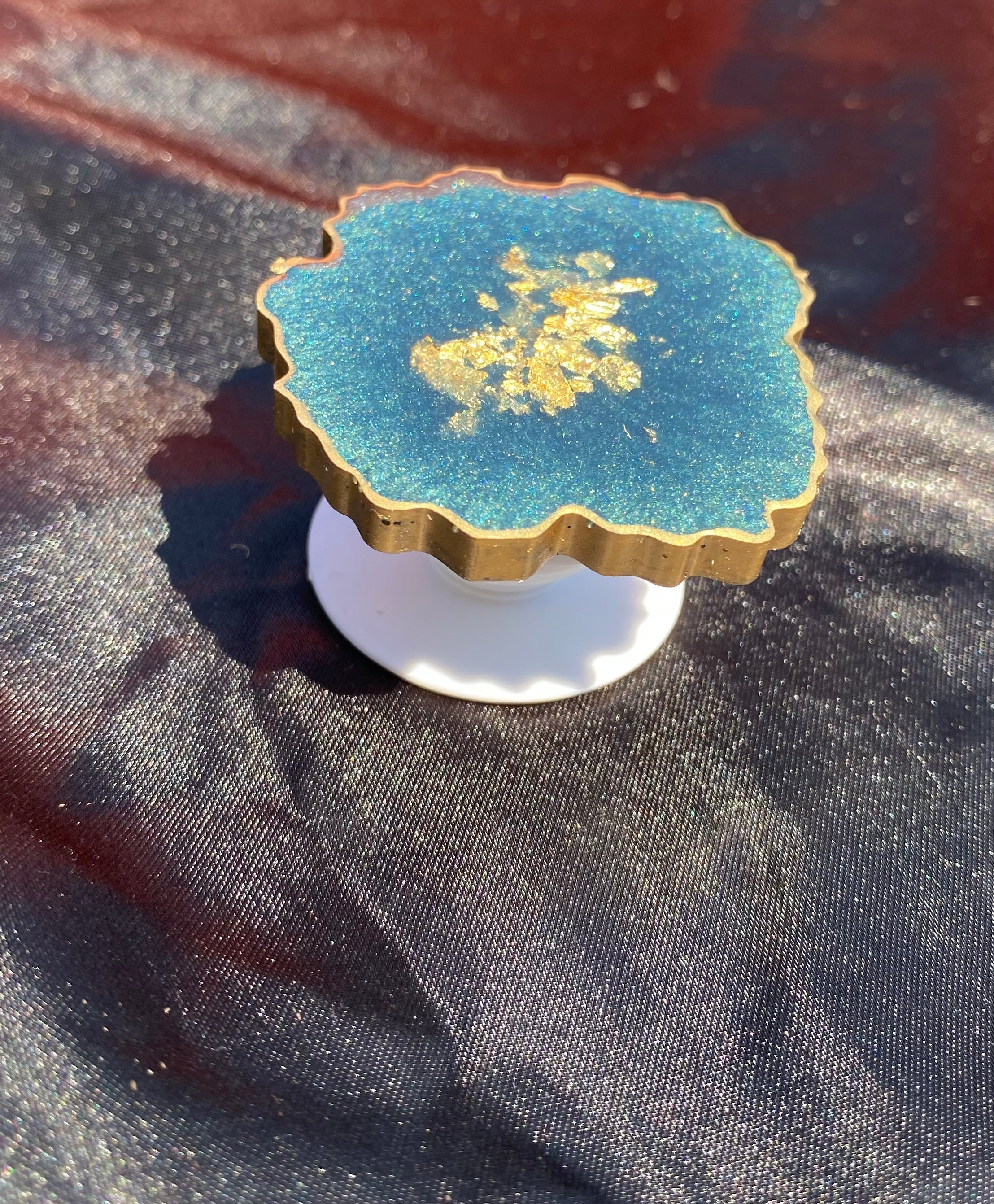 Green Gold Geode PopSocket