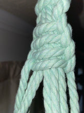 Load image into Gallery viewer, Mint Green Minimalist Macrame Hanger