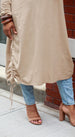 Tan Midi Tunic - Styled by Zubaidah