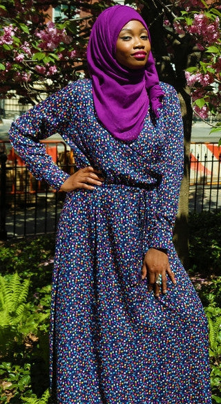Confetti Drawstring Dress - Styled by Zubaidah