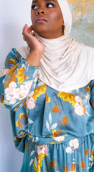 Dahlia Faux Wrap Blouse - Styled by Zubaidah