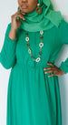 Kelly Green Aisha Dress - Styled by Zubaidah